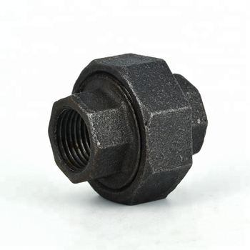 "2"" size pipe fitting bv cast iron conical joint union iso 7/1 ul 330 malleable union for gas"