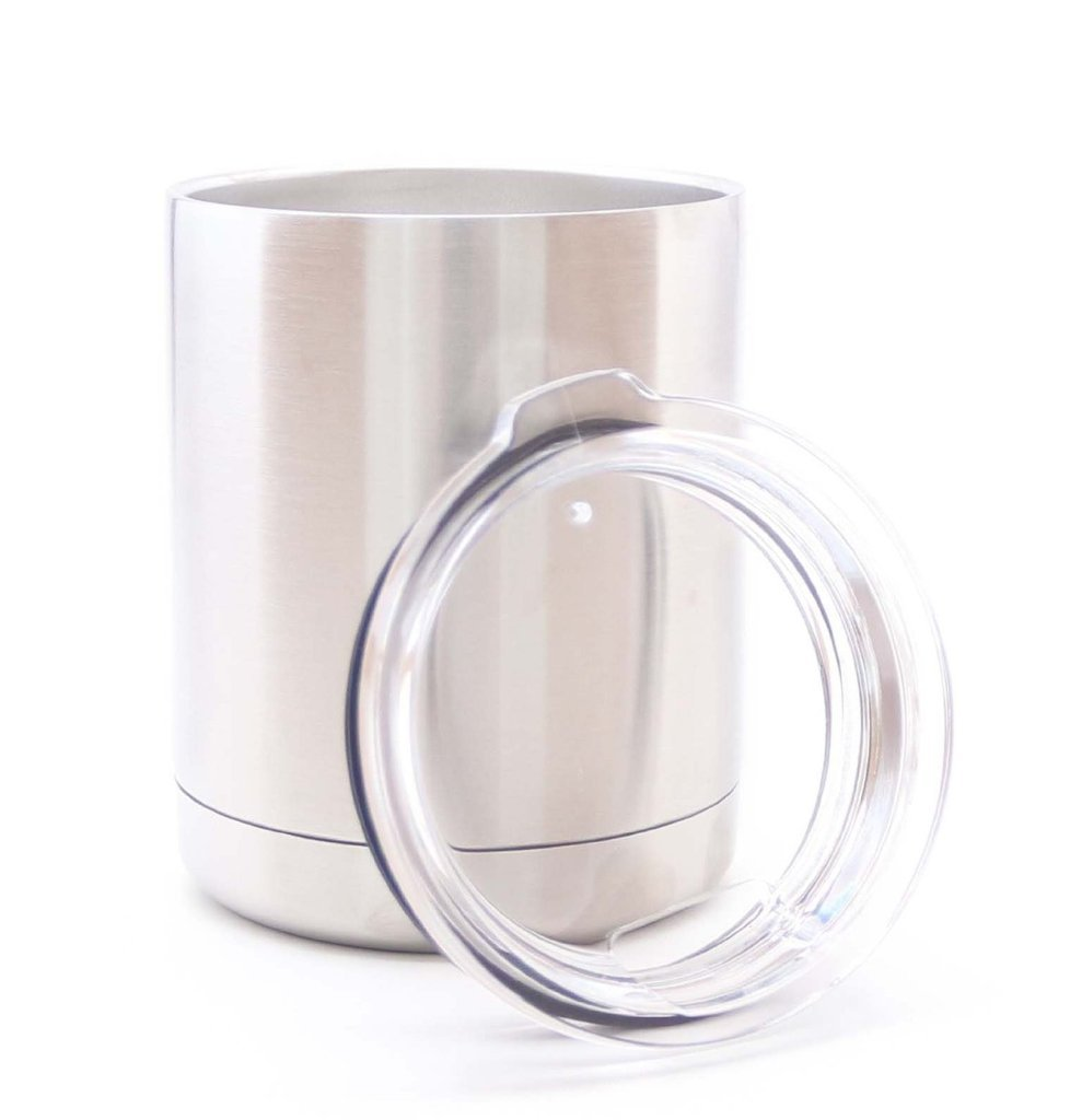 Stainless Steel 10 oz Tumbler MEGA 10 LOWBALL Premium Double Wall Vacuum Insulated Tumbler 18/8 Food Grade Stainless Steel 100% SWEAT PROOF!