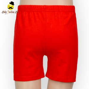 Wholesale simple design baby tight shorts summer plain red cotton shorts cheap price
