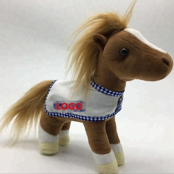 custom make cheap plush stuffed animal doll toys happy horse toy