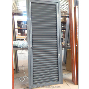 aluminum two side open door with shutter by hand