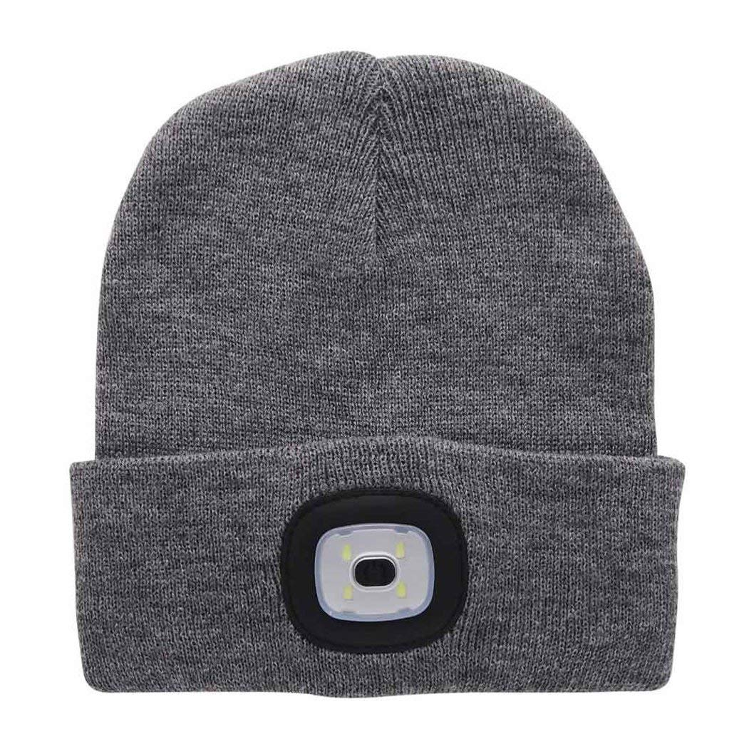 971ef9bfa14 Get Quotations · Display Promotion Unisex 4LED Knitted Beanie Hat Built-In  Rechargeable LED Head Lights Hands Free