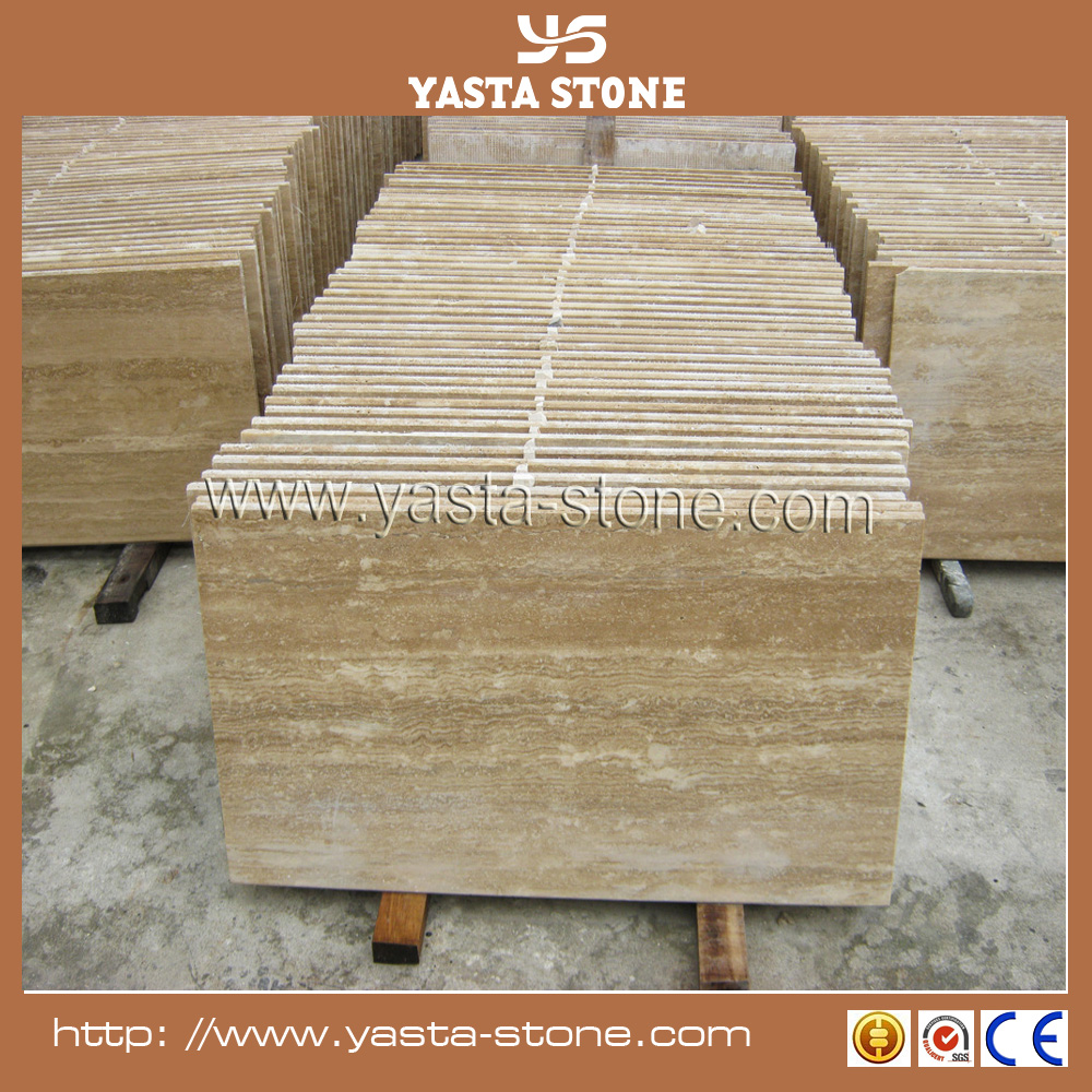 Natural Beige Color Travertine Floor Tiles For Wall