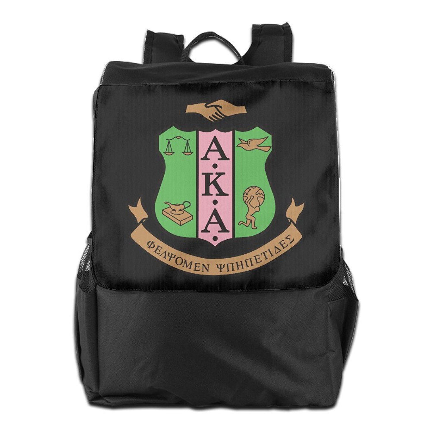 16481abee6b Get Quotations · Alpha Kappa Alpha Logo AKA Backpack Sport Bag Travel  Daypack For Men Women Girl Boy Rucksack