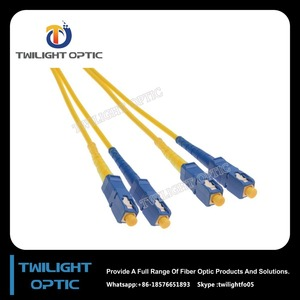 SC to SC Duplex Single Mode 9.0/125 Fiber Optic Patch Cord Yellow PVC Zip Cord Factory&Supplier&Manufacturer