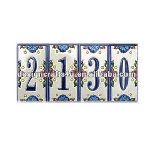 Porcelain Art Deco House Number Tile