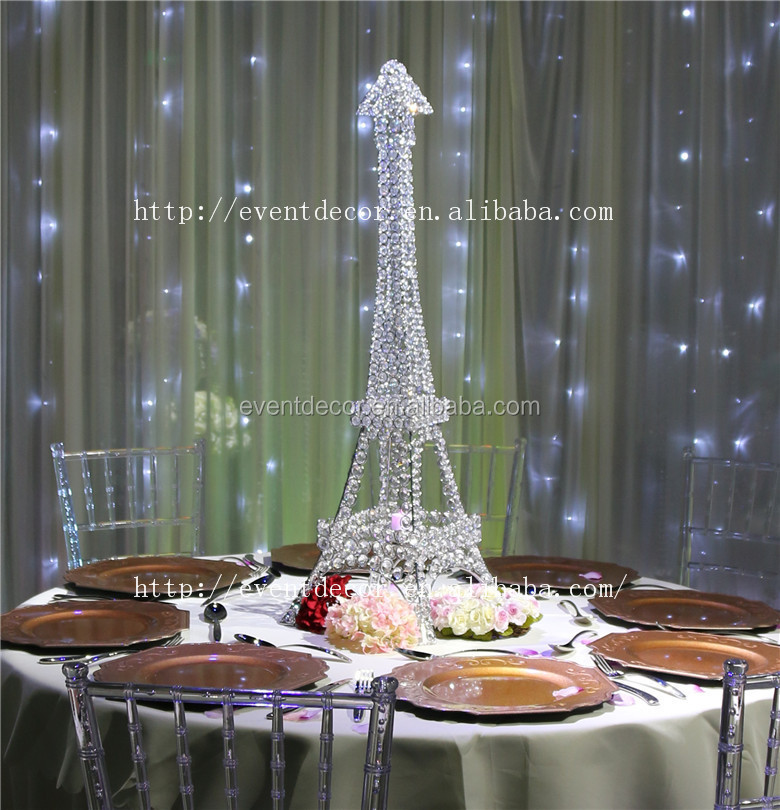 New Product Eiffel Tower Centerpieces Crystal Candle