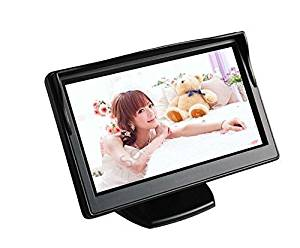 "BONDWL 5"" High Resolution HD 800*480 Car Rearview TFT LCD Monitor Screen Car Vehicle Backup Monitor with 2ch Video for Car Rearview Backup Cameras/Car DVD/VCD/GPS/other Video Equipment"