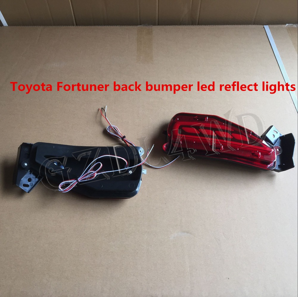 Hot selling!!!fortuner 2016 accessories for toyota fortuner led tail light led back reflect bumper light