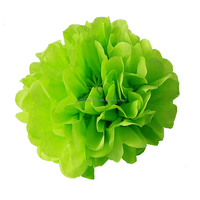 "12""(30cm)Grass Green Tissue Paper Pompom Flowers Birthday Wedding Party Supplies Home Shopwindow Decorative Flowers"