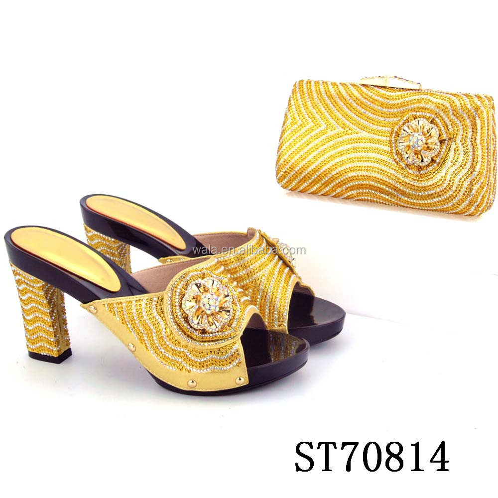 Italian and bags shoes for african style heels women wedding ST70814 party RwdqXR