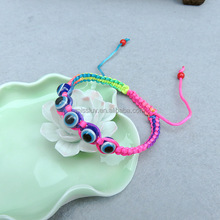 Turkey evil eye knitted bracelet wholesale diy woven evil eye bracelets