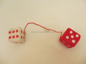 hot sale custom plush promotion toy dice in car