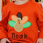 Lovely children 100% cotton thanksgiving turkey applique shirt toddler boys boutique clothes