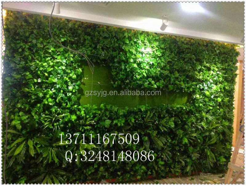 Shengyuan PH20012 artificial cactus / artificial green plant wall for meeting room decoration