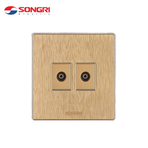 Songri middle east standard PC ABS panel TV double socket