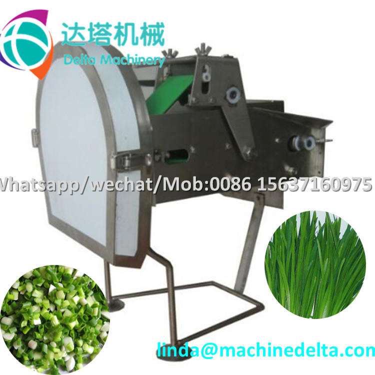 Small table type scallion slicer/celery slicing cutting machine/scallion cutting machine