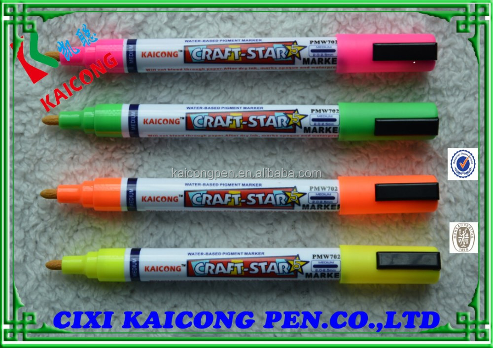 Valve Action Paint marker Bullet tip water-based ink,wet-erase paint marker/marker pen