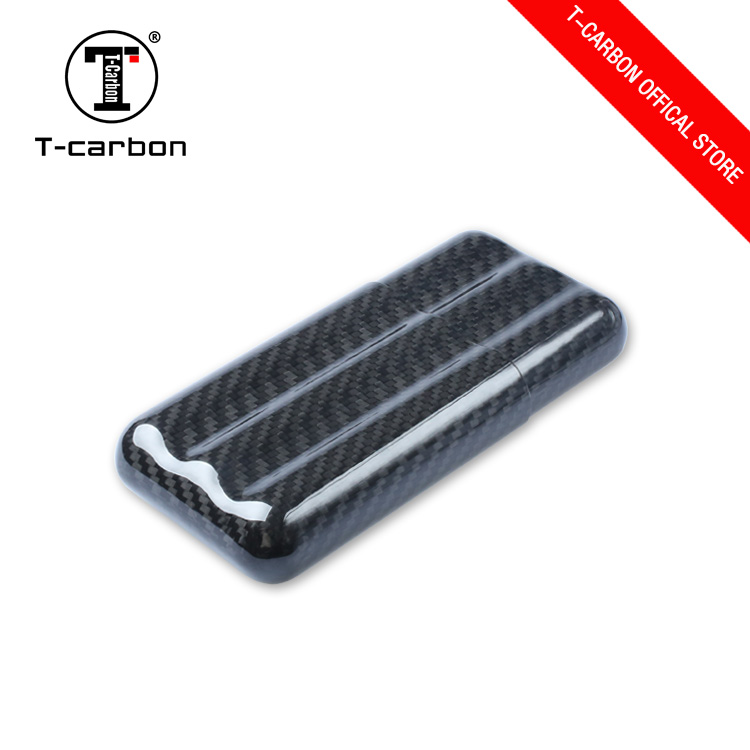 T-carbon personalised carbon fiber luxury humidor cigar case