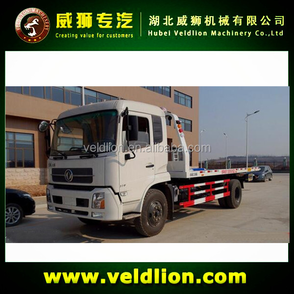 Dongfeng wrecker truck lifting capacity 5 ton road wrecker tow truck for sale
