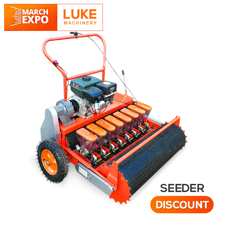 LUKE 1-13 ROWS 2mm-9mm small seeds automatic mini hand push drum type tiller garden vegetable carrot agriculture bean seeder