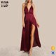 Fashion clothing 2018 party dress women with bare back party wear gowns for ladies