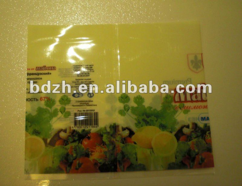 Enrollar bloque verde PVC shrink Label
