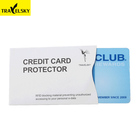 Travelsky 13591 wholesale business protection custom rfid blocking credit id card sleeves for travel
