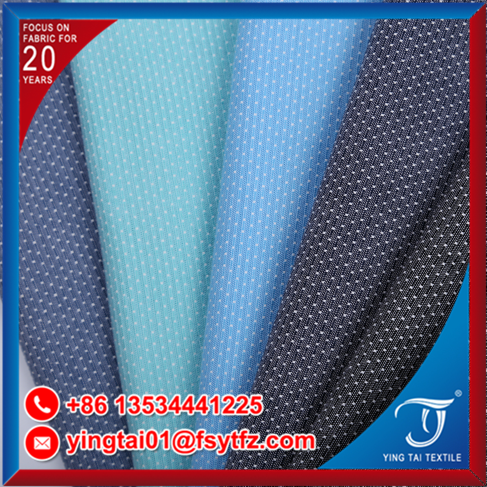 On sale shirt fabric 100% cotton 50*50 super comfortable wholesale plain cotton yard dye shirt fabric