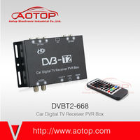 dvb-t2 tv tuner box for lcd monitor support speed 120km/h, Double antenna, 1080P HD, USB PVR