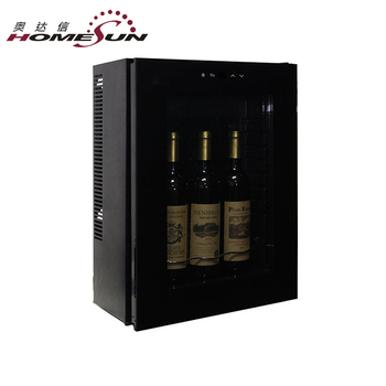 Bcw 12b 4 Bottle Wall Mounted Wine Cooler Mini Refrigerator Gl Door Thermoelectric Cellar Fridge