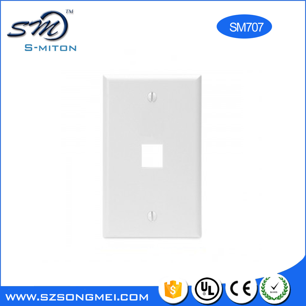 Europe Type RJ45 Network Faceplate With RJ45 Module