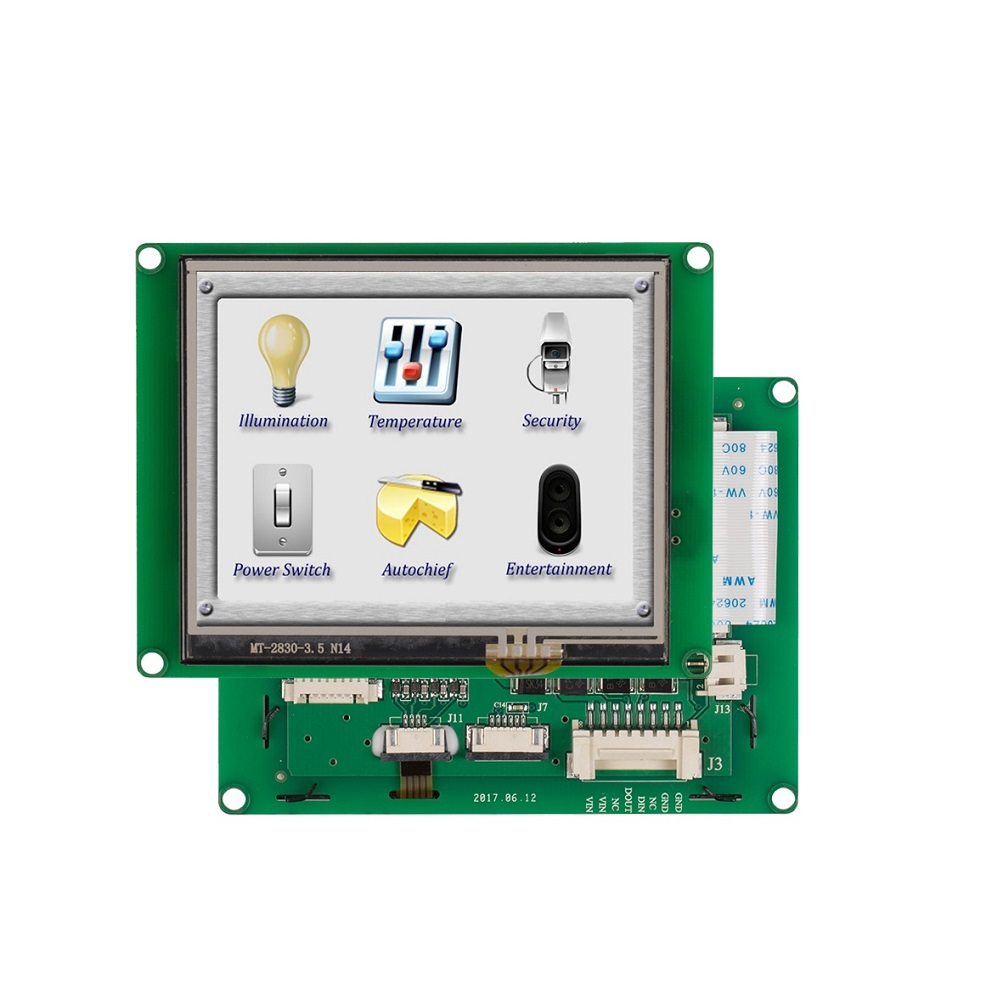 3.5 inch TFT LCD Display Monitor with CPU + Touch Screen + RS232/ RS485/ USB Port