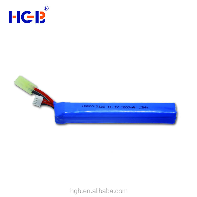 Cool Design Newest toy gun battery HGB 6015120 11.1V 1200mAh 20C lithium ion battery pack