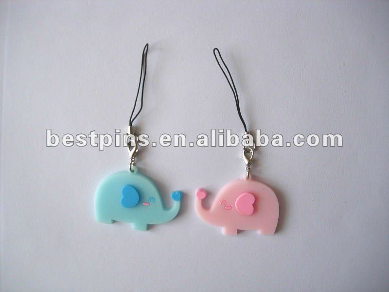 couples mobile phone strap with elephant shaped