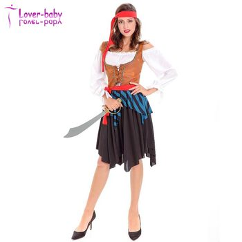 Adult Caribbean Pirate Lady Fancy Dress Up Costume For Cosplay Halloween  sc 1 st  Wholesale Alibaba & Adult Caribbean Pirate Lady Fancy Dress Up Costume For Cosplay ...