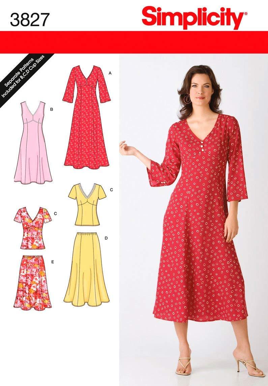 10-12-14-16-18 Simplicity Sewing Pattern 4552 Miss//Plus Size Sportswear AA