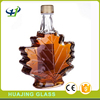 wholesale 50ml mini liquor bottle 1.5oz glass maple leaf bottles with lid