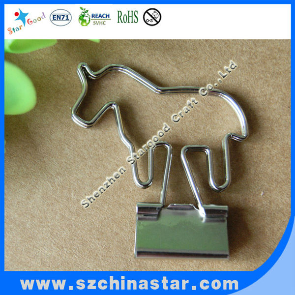 Copper plating horse copper plating metal ring binder <strong>clips</strong>
