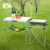 Most popular white aluminum foldable outdoor camping picnic folding korean bbq grill table
