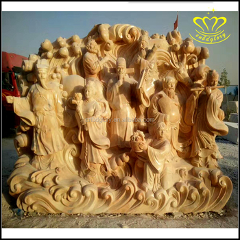 Natural Marble Stone Figure Relief Wall Sculpture Decorate For Sale