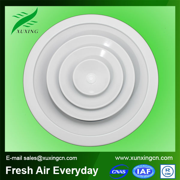 HVAC round adjustable air vent grille air diffusers