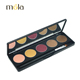 Cosmetics make your own brand 5 color green eyeshadow, wholesale glitter eye makeup palette