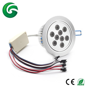 Adjustable 24vdc 9*3W DMX 3IN1 RGB+White led downlight with 3 years warranty