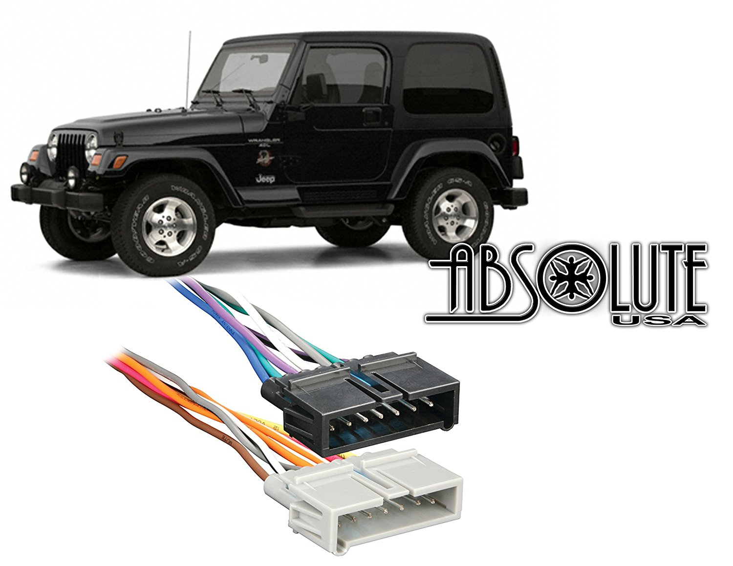 Aftermarket Double Din Radio Stereo Car Install Dash Kit Fits Jeep 02 Wrangler Wiring Harness 1997 2002 Custom Parts