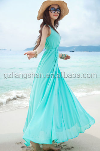2015 OEM NEW CASUAL WOMENS CHIFFON LONG MAXI BOHO BEACH EVENING COCKTAIL PARTY DRESS