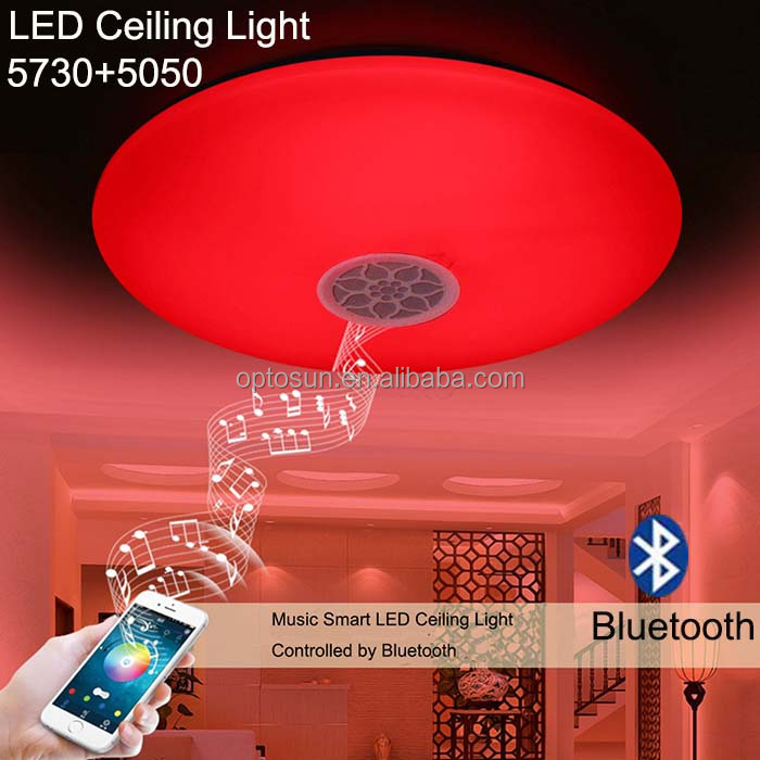 Rgbw Dimmable Led Ceiling Lighting 24w Bluetooth Speaker Smart ...