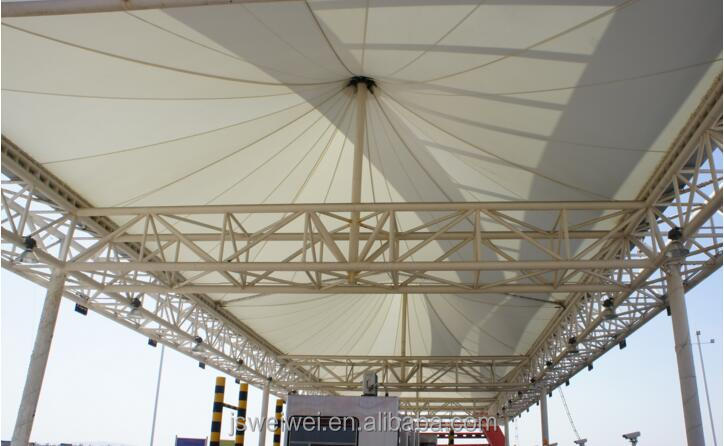 ptfe permanent Architecture membrane for railway terminal canopy