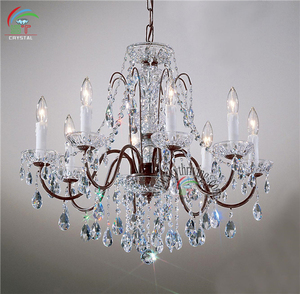 Home decoration Neo-Chinese style luxurous American country style wrought crystal chandelier 8 lights