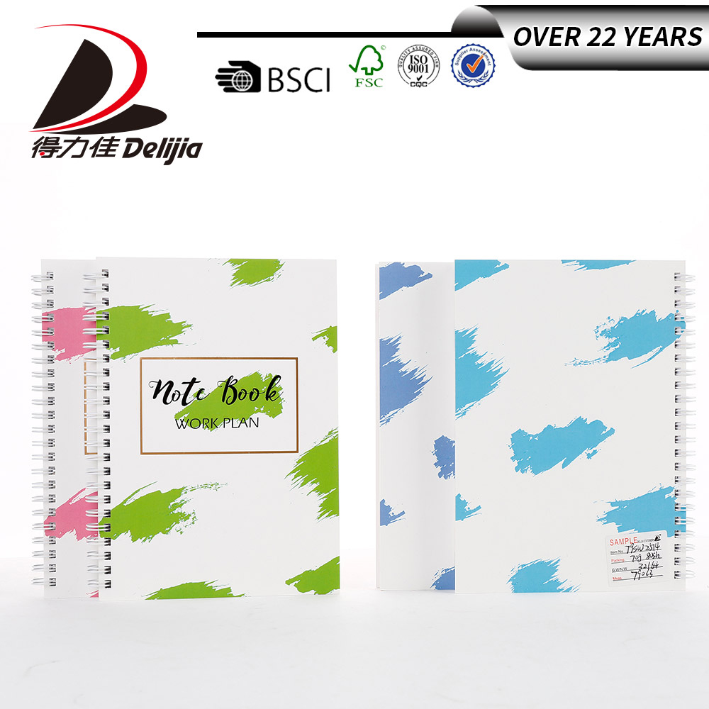 Full color paper cover customized logo cool spiral notebook